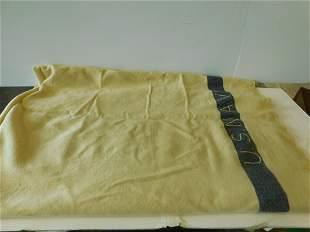 WW II Vintage US Navy Wool Blanket