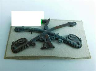 Indian Wars US Cavalry Hat Badge Insignia