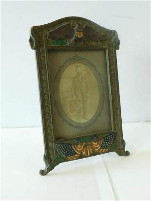 Antique Military Picture Frame