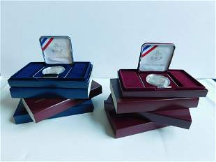 6 US Proof Commemorative Silver Dollars