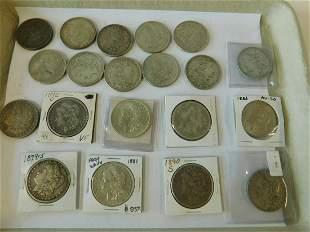 20 US Silver Morgan Dollars