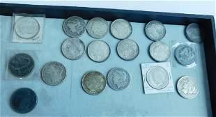 18 US Silver Dollars