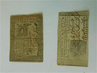 Colonial PA & NJ Paper Currency