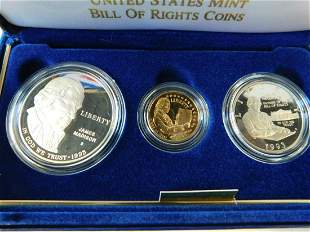 US Bill of Rights 3 Coin Proof Set