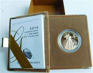 Us American Eagle 1oz Gold Proof Coin