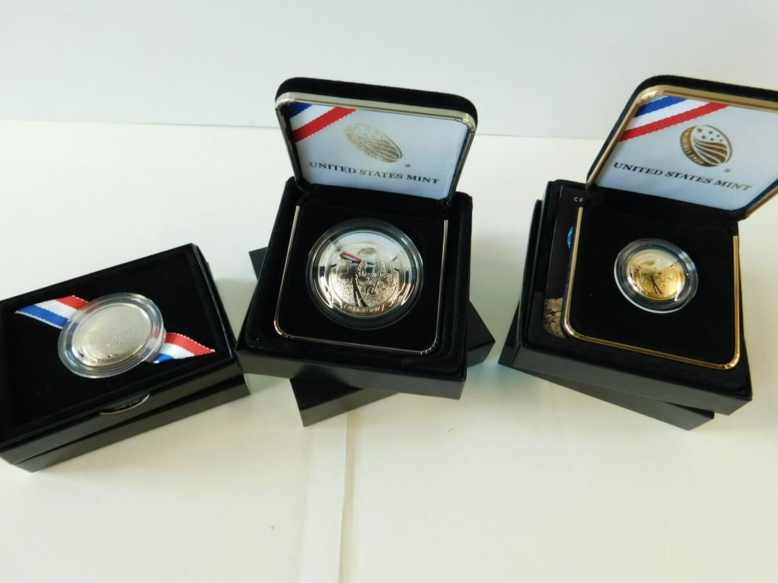 (3) 2019-W Apollo 11, 50th Anniversary Proof Coins