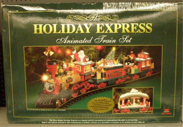 1011: New Bright G Scale Holiday Express Train Set