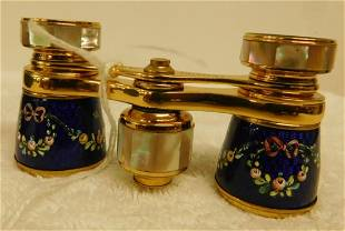 Vintage French Enameled Opera Glasses