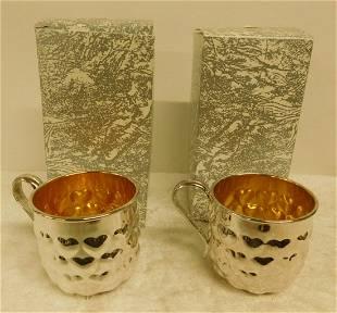 2 Sterling Silver Mugs
