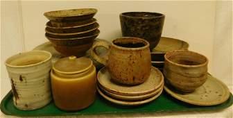 19 Pieces Studio Art Pottery
