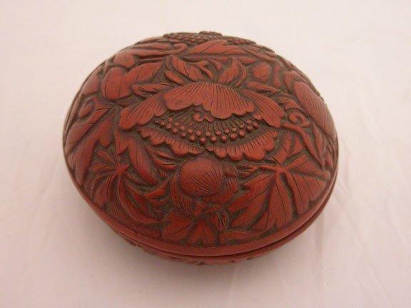 1001: Japanese Cinnabar Lacquered Round Box