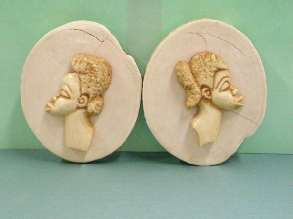 1014: Two African Ivory Bust Carvings