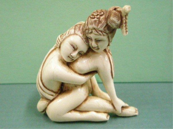 1095: Japanese Ivory Erotic Carvings