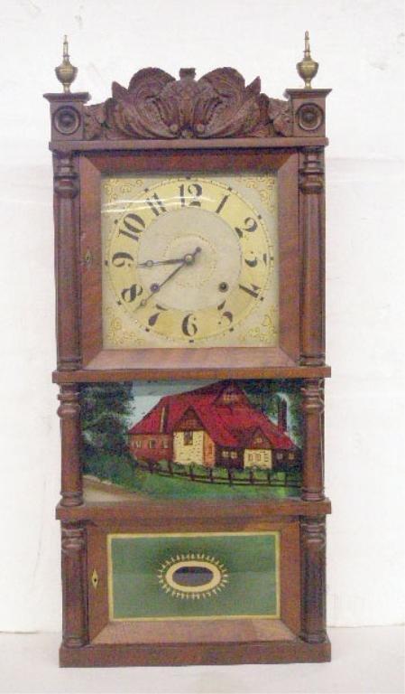 1224: C & L, C. Ives Triple Decker Shelf Clock