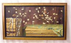 1292: Paul Gorka, o/c, Trompe l'oeil with Cornflower
