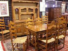1402: Drexel 10 Pc Country French Dining Room Set