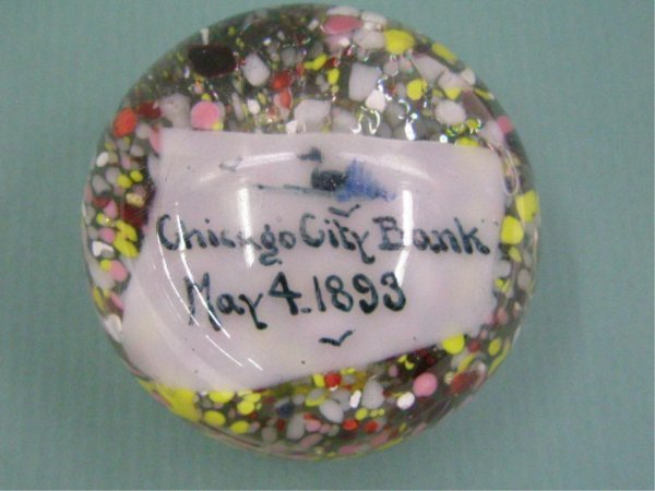 2003: 1893 Chicago City Bank Glass Paperweight