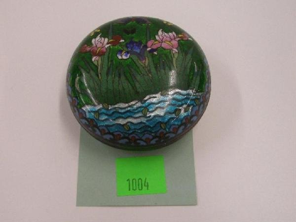 1004: 19th c. Japanese Cloisonne Box