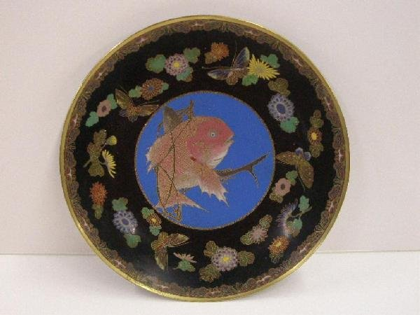 1010: 19th c. Chinese Cloisonne Charger