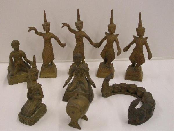 1012: Brass India Figural Sculptures
