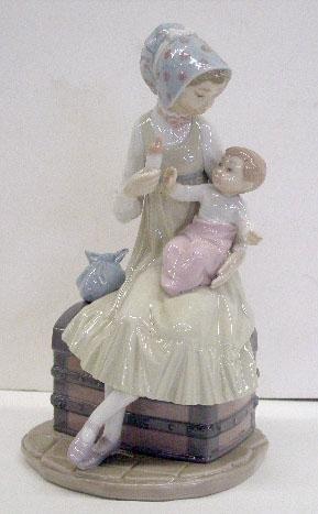 2002: Lladro Porcelain Feeding Her Son Figure