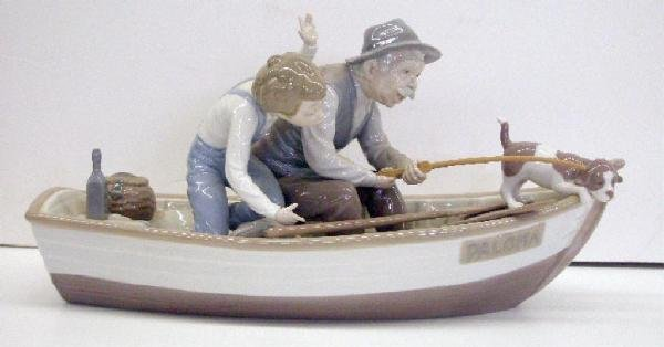 2004: Lladro Porcelain Fishing with Gramps Figure