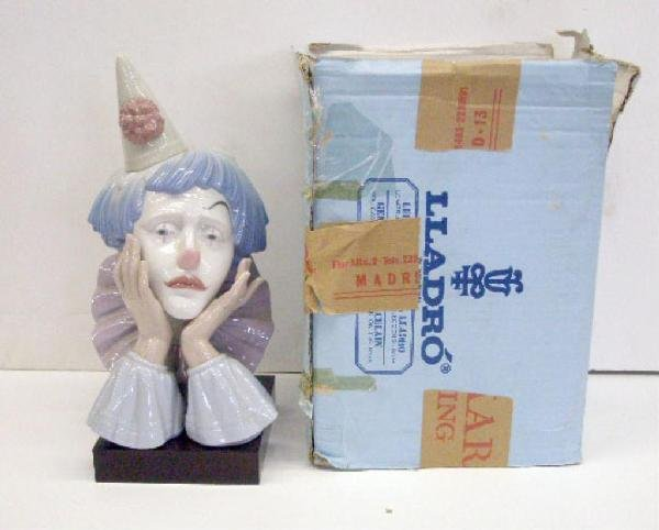 2011: Lladro Porcelain Jester with Base Figure