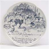 2073 Rosenthal Porcelain Bjorn Winblad Wall Plate