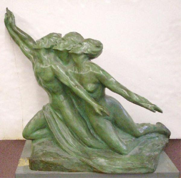 2203: Eugene Canneel Signed Bronze Sculpture