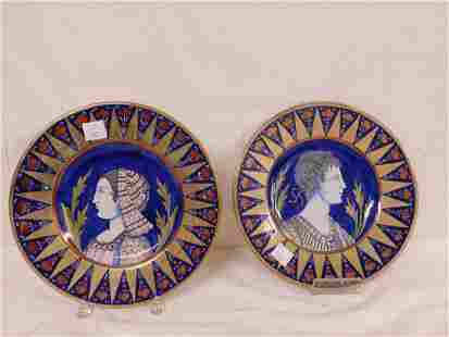 Pr Italian Faience Pottery Chargers