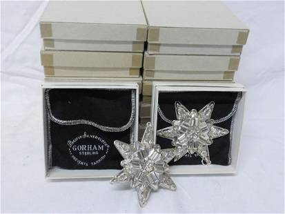12 Gorham Sterling Silver Christmas Ornaments
