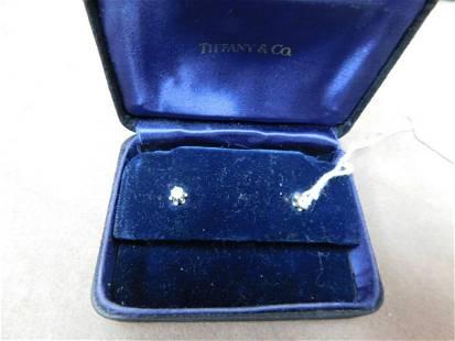 Pr Diamond Earrings in VintageTiffany & co Box.