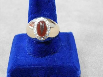 Tiffany & Co. 14k Ring w/ Red Stone