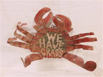 """""""We Have Crabs"""" Hanging Sign"""
