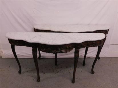 Pr Louis XV Style Console Tables