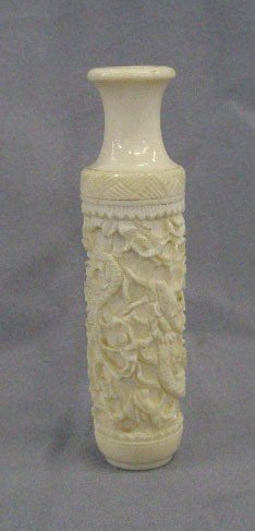 Chinese Carved Ivory Cabinet Vase