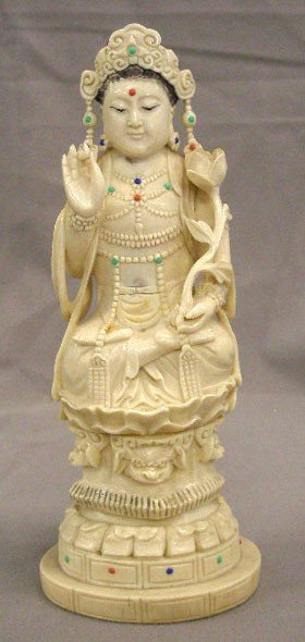 Chinese Carved Ivory Goddess