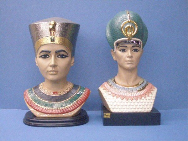 2000: Marco Giner Porcelain Egyptian Busts