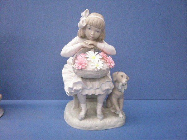 2019: Lladro Girl with Flowers Figure