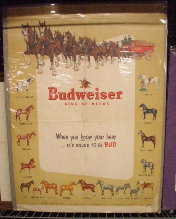 5: 1953 Budweiser Advertising Poster