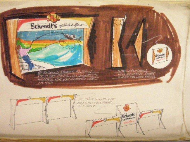 11: 1960's & 1970's Schmidt's Beer Ad Campaign Designs