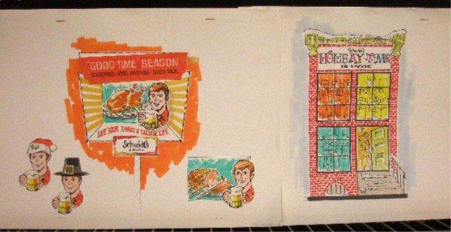 14: 1970's Schmidt's Beer Ad Campaign Designs
