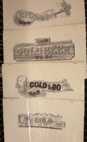 16: 1960's & 1970's Schmidt's Beer Ad Campaign Designs