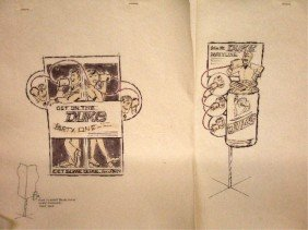 1960's Duke Beer Ad Campaign Designs