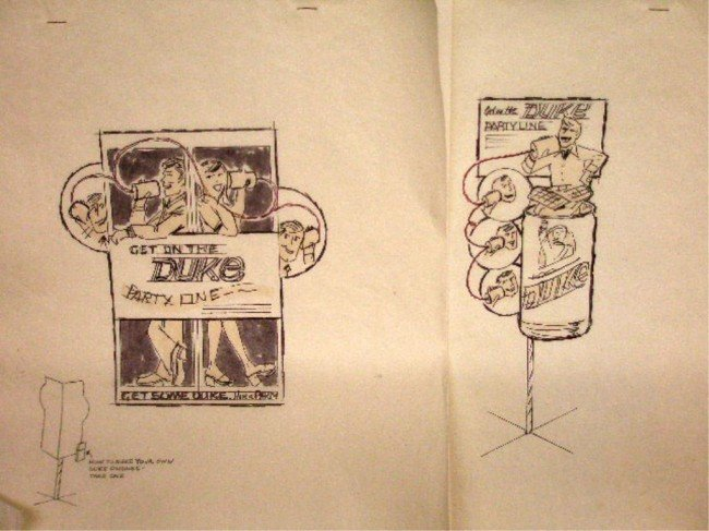 18: 1960's Duke Beer Ad Campaign Designs