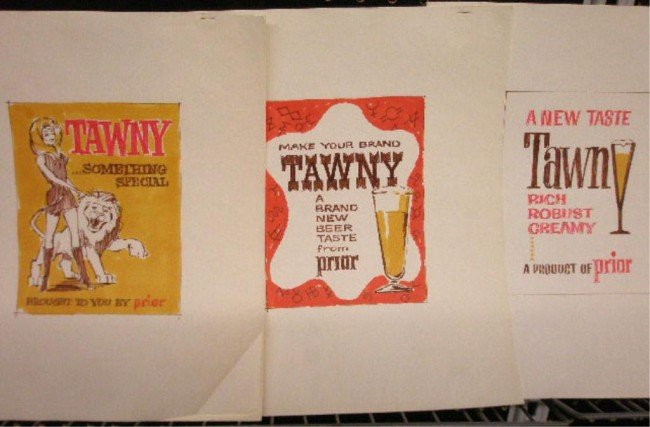 19: 1960's Tawny Beer Ad Campaign Designs