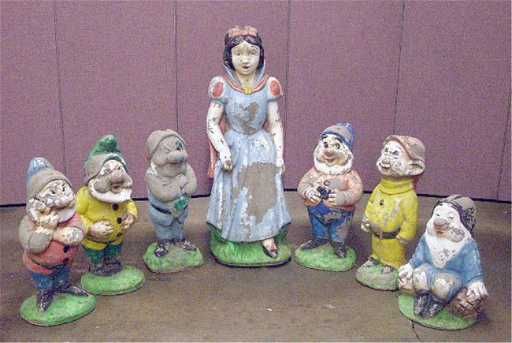 78 snow white the seven dwarfs concrete statues