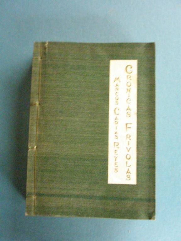 262: Signed & Inscribed Cronicas Frivolas Book