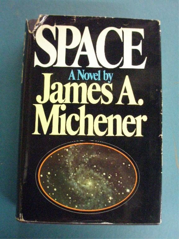 268: Signed James Michener Space First Ed. Book