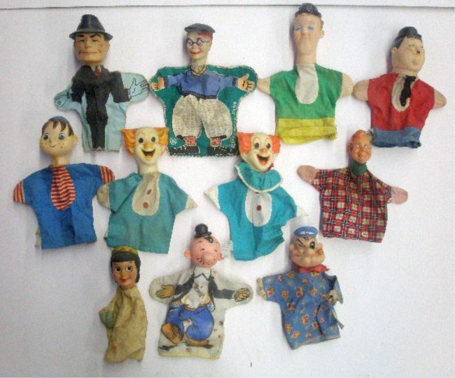 12: 1950's & 1960's Cartoon Character Hand Puppets